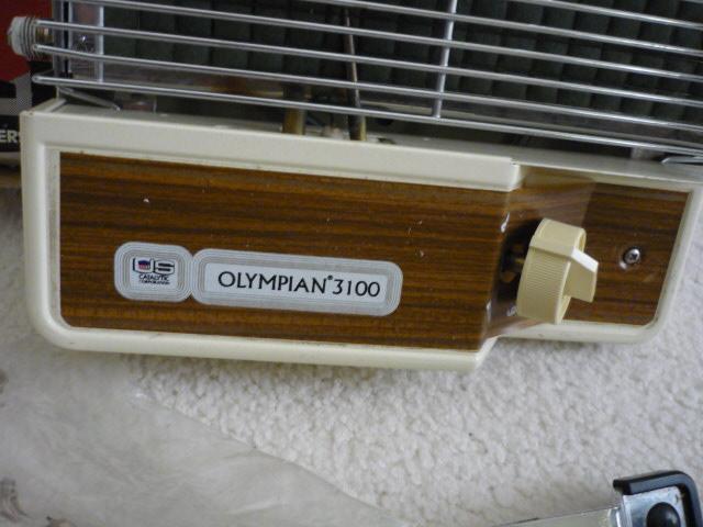 Olympian Rv Catalytic Safety Heater Model 3100 Operates